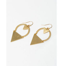 Dart Earrings in Brass