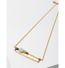 Vesper Necklace in Amazonite