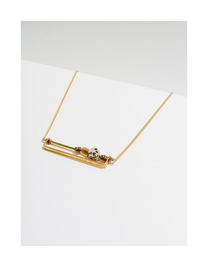 Vesper Necklace in Dalmatian Jasper