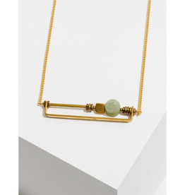 Vesper Necklace in Green Aventurine