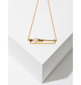 Vesper Necklace in Rose Quartz
