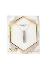 Stone Point Necklace in Labradorite
