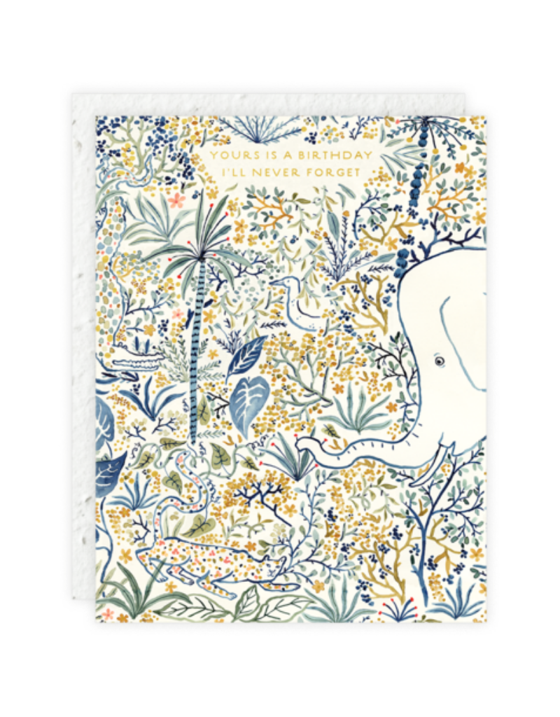 Seedlings Birthday Elephant Card