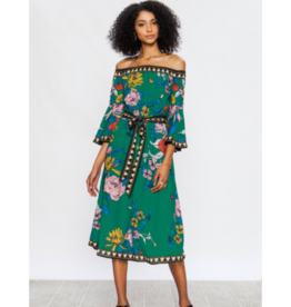 Faedra Off-The-Shoulder Midi Dress