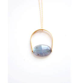 Arch Labradorite Pendant Necklace