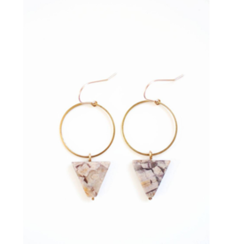 Jasper Triangle Hoop Earrings