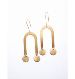 U-Circle Drop Earrings