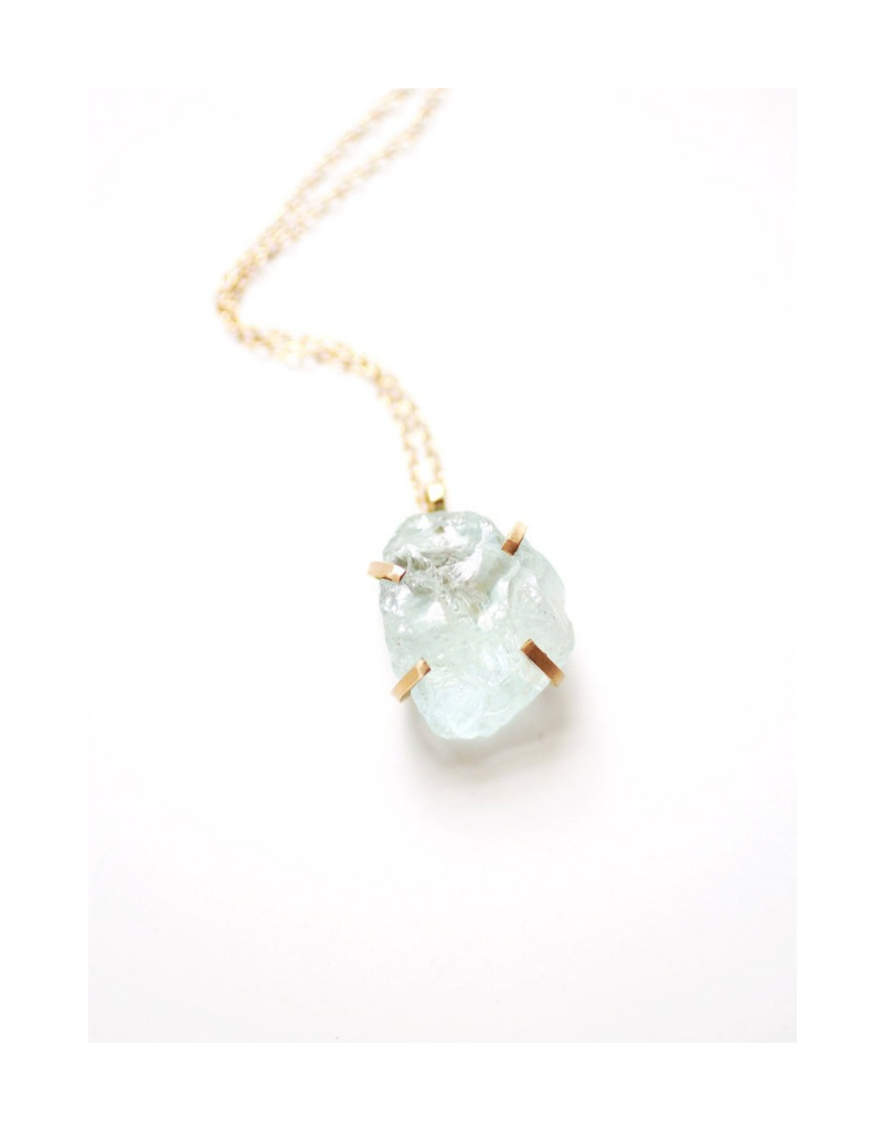 0721086b7da83 Raw Aquamarine Necklace