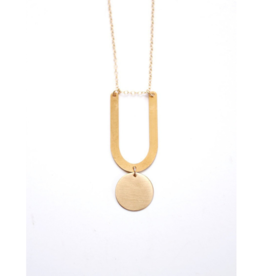 U-Circle Drop Necklace