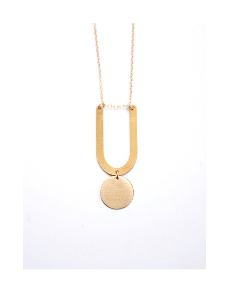 U-Circle Drop Necklace
