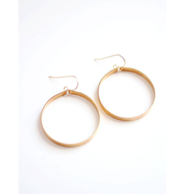 Sculptural Large Hoop Earrings