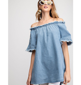 Eloise Off the Shoulder Demin Top