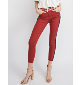 Estrella Striped Twill Skinnies