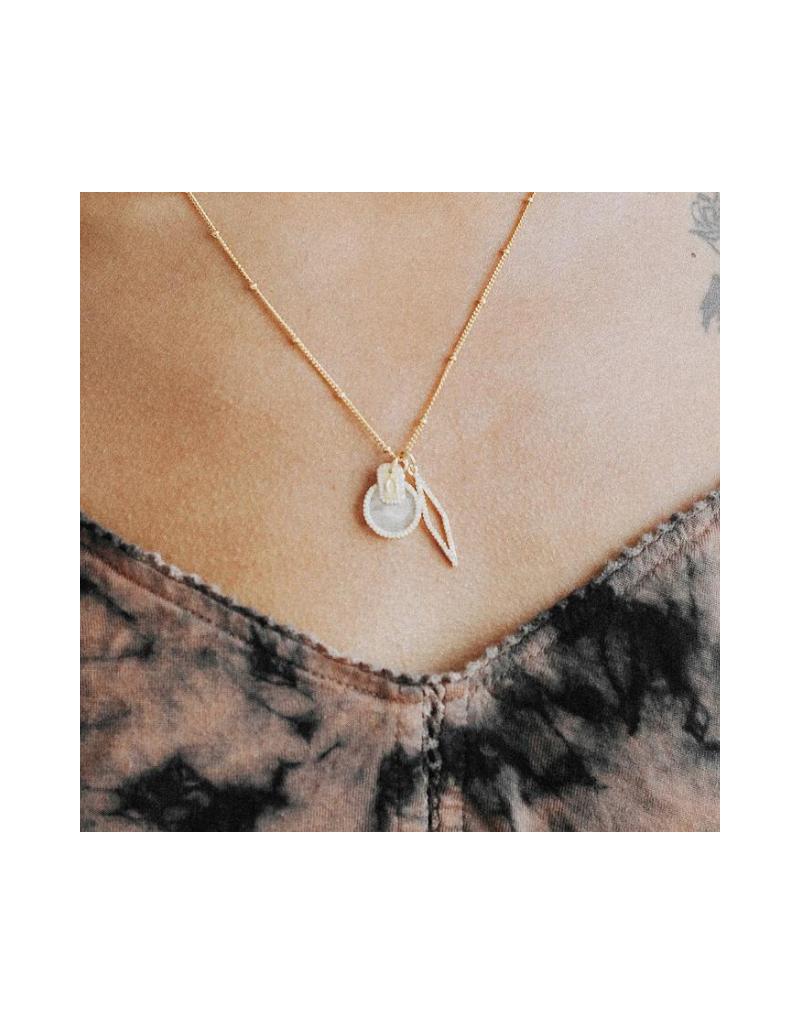 Clear Quartz Cluster Charm Necklace