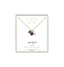 Amethytst Cluster Charm Necklace