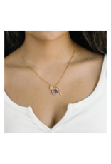 Amethytst Cluster Charm Necklace