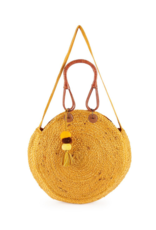 Jute Bucket Bag in Mustard