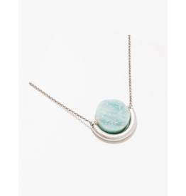 Sun and Moon Necklace in Amazonite-Silver