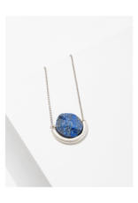 Sun and Moon Necklace in Lapis-Silver