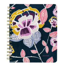 Spiral Notebook in Navy Floral