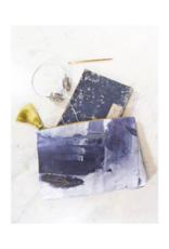 Sapphire Swirl Tassel Pouch