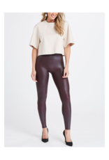 Faux Leather Legging in Wine Leggings