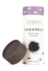 5.5oz Sleeve of Black Lava Sea Salt Caramels