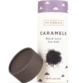 5.5oz Sleeve of Black Lava Sea Salt Caramels