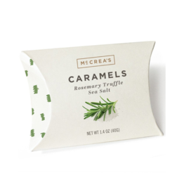 1.4oz Pillows of Rosemary-Truffle Sea Salt Caramels