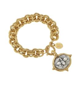 Italian Intaglio Bee Bracelet
