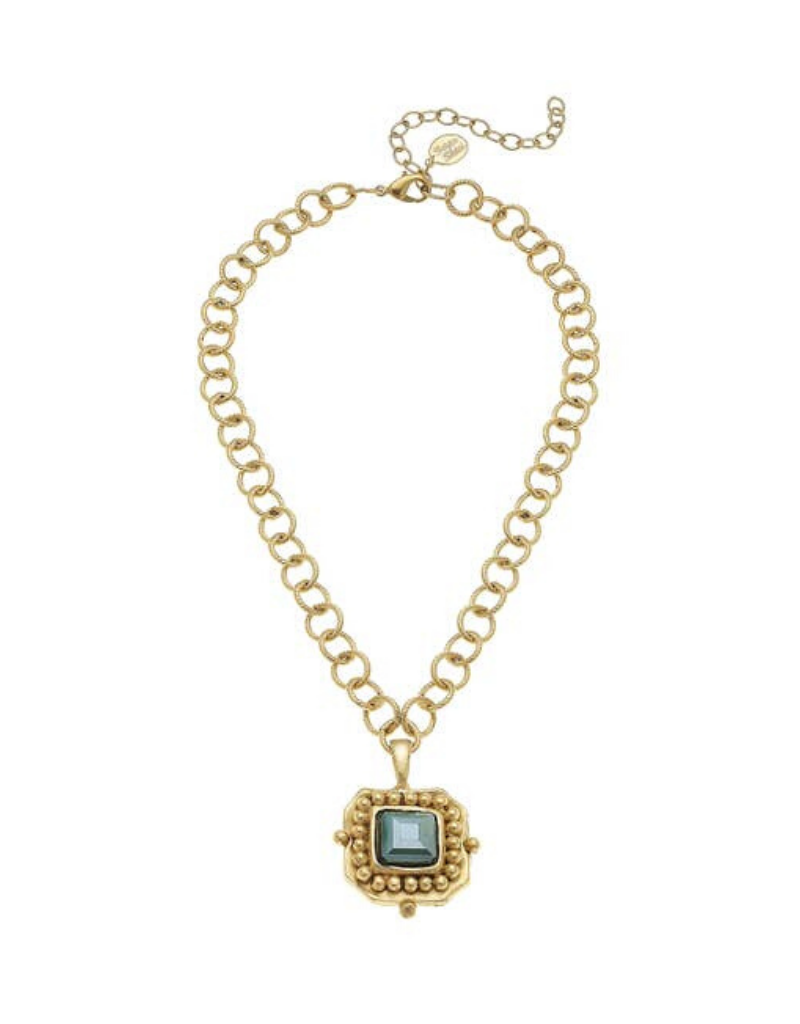 Crystal Pendant Chain Necklace