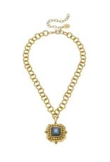 Labradorite Crystal Pendant Necklace