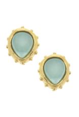 Marie Earrings in Aqua