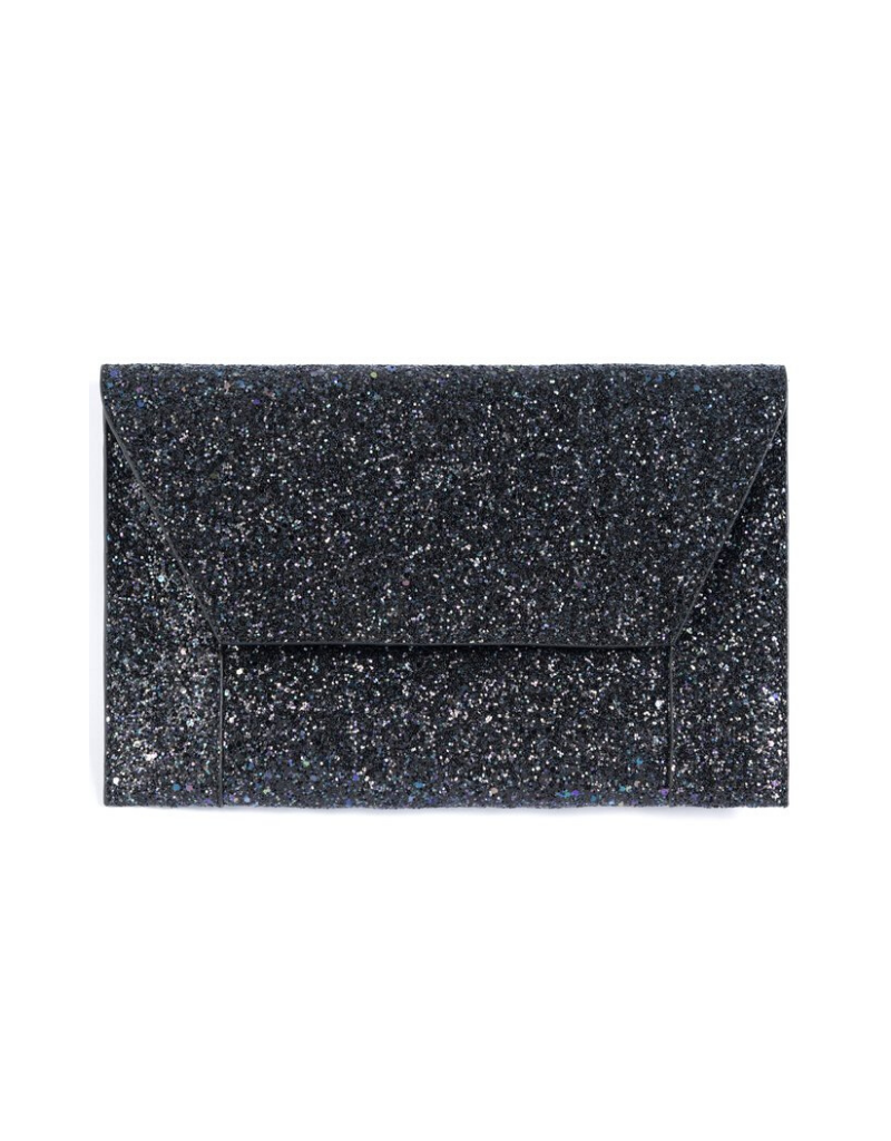 Fiona Sparkle Clutch in Charcoal