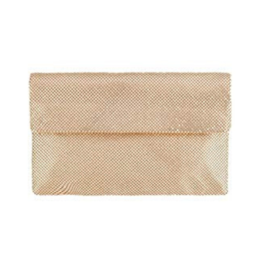Tyra Fold Clutch in Gold