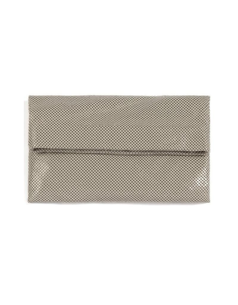 Tyra Fold Clutch in Grey