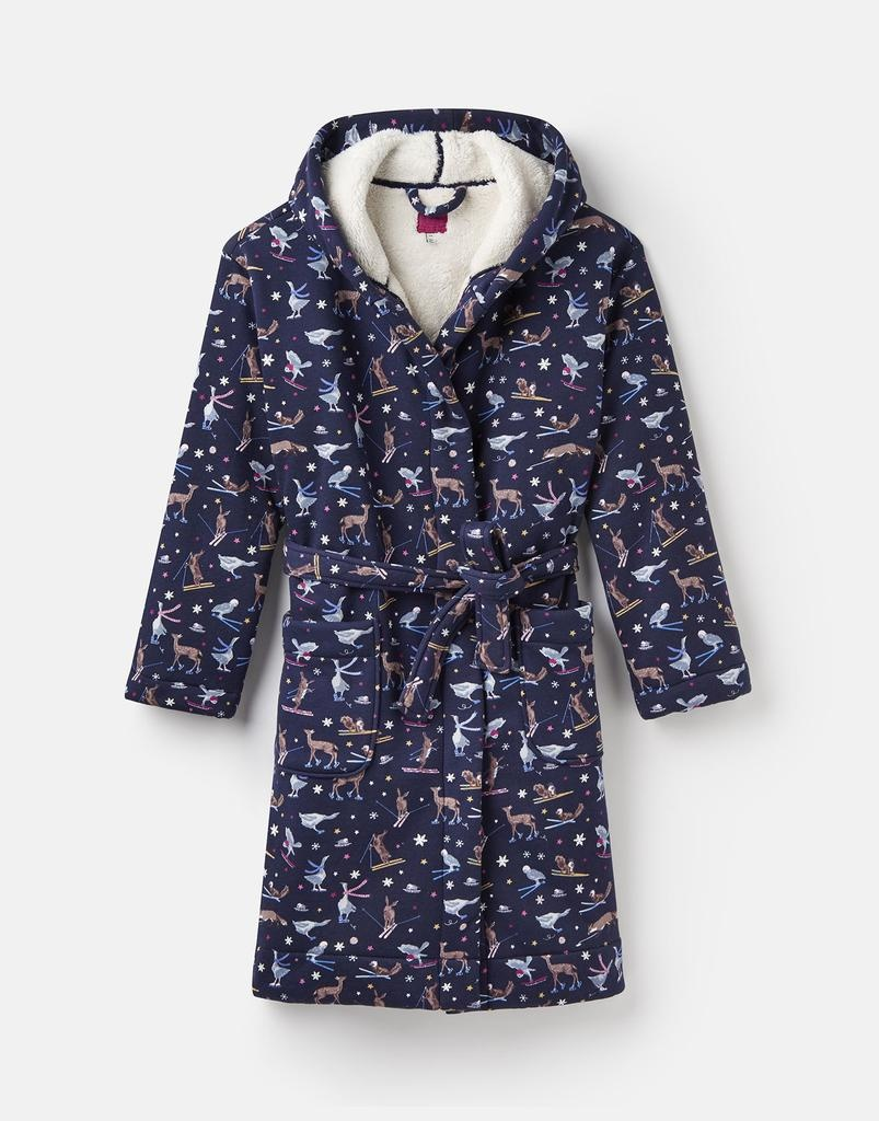 Joules Idlewhile Jersey Fluffy Robe