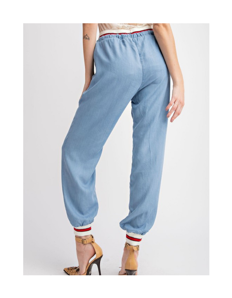 Eleanor Drawstring Denim Pants