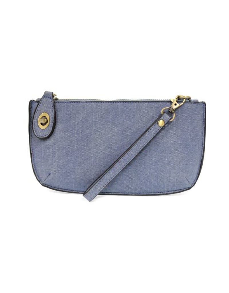 Faux Linen Mini Crossbody Wristlet