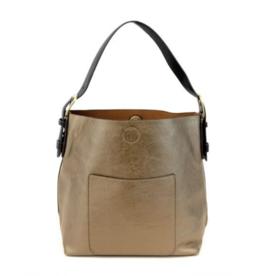 Hobo Black Handle Handbag