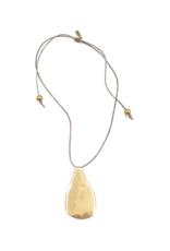 Brass Drop Pendant Necklace
