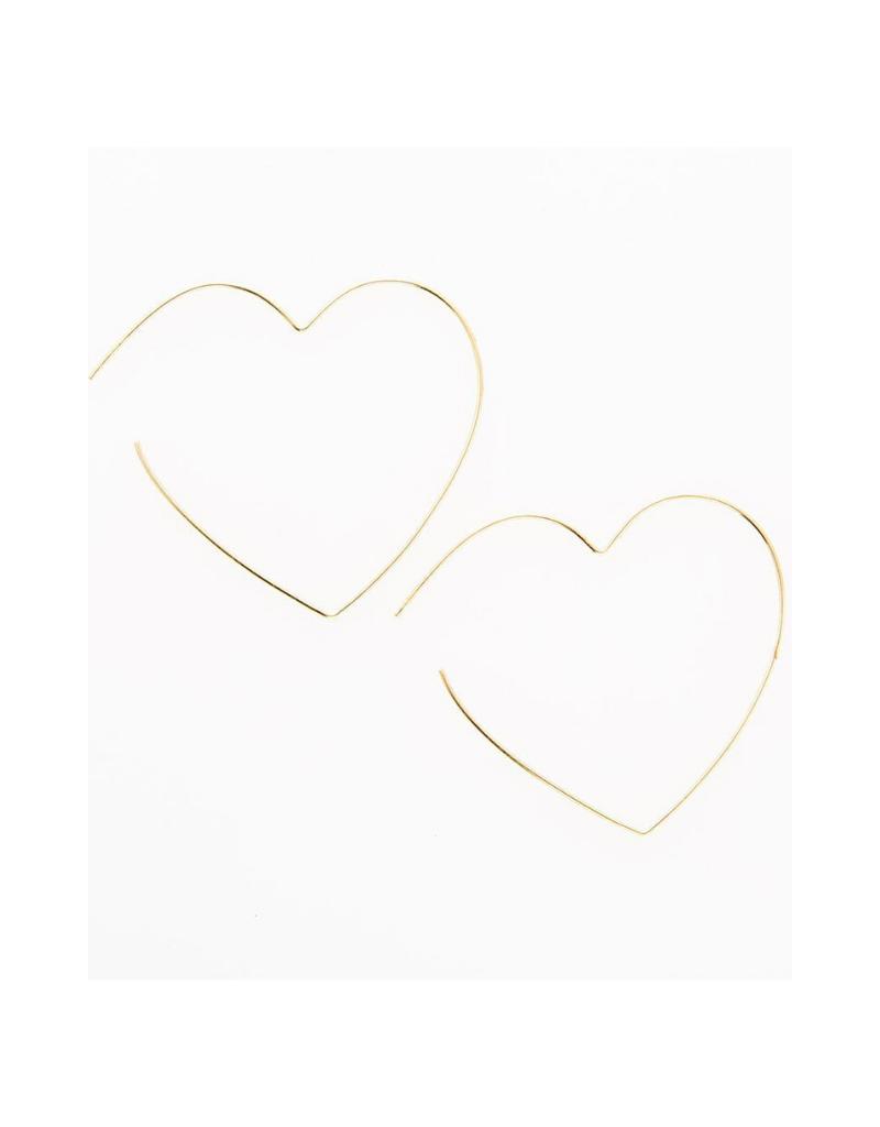 Heart Wire Hoop Earring