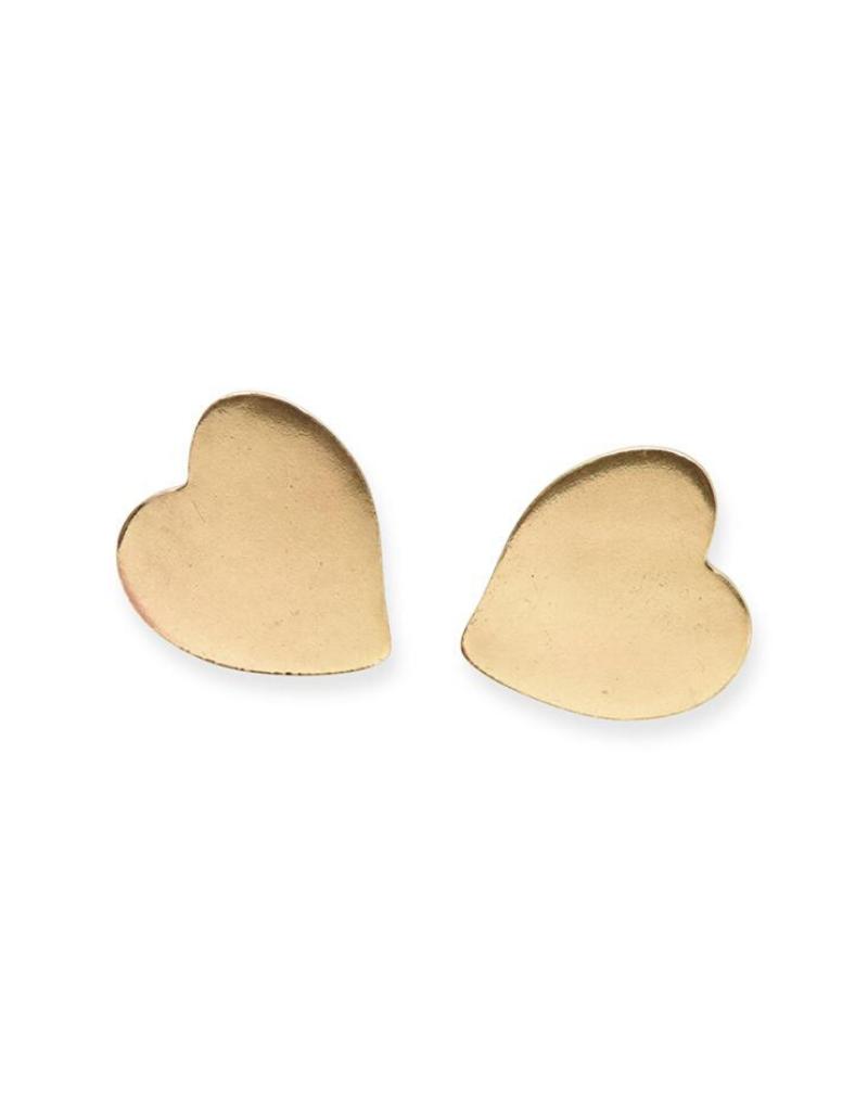 Small Heart Post Earrings