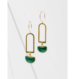 Casablana Earrings in Malachite