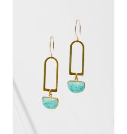 Casablana Earrings in Amazonite