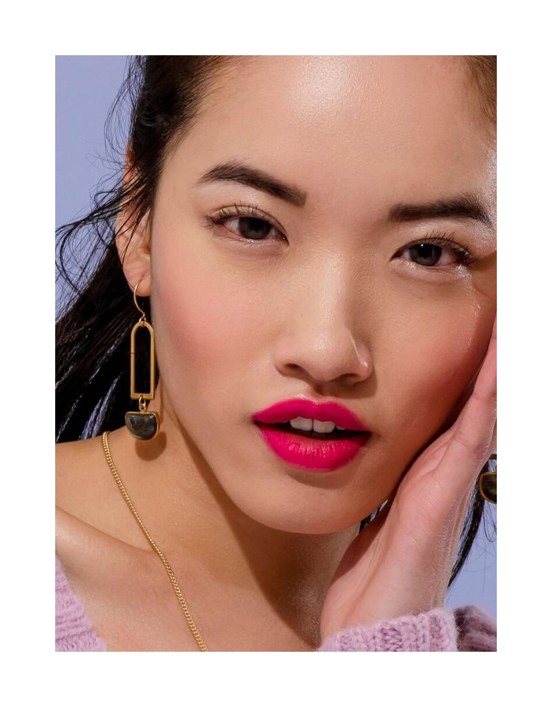 Casablana Earrings in Moonstone