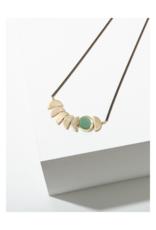 Zephyr Necklace in Green Aventurine