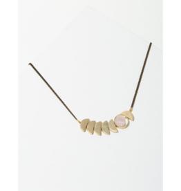Zephyr Necklace in Rose Quartz