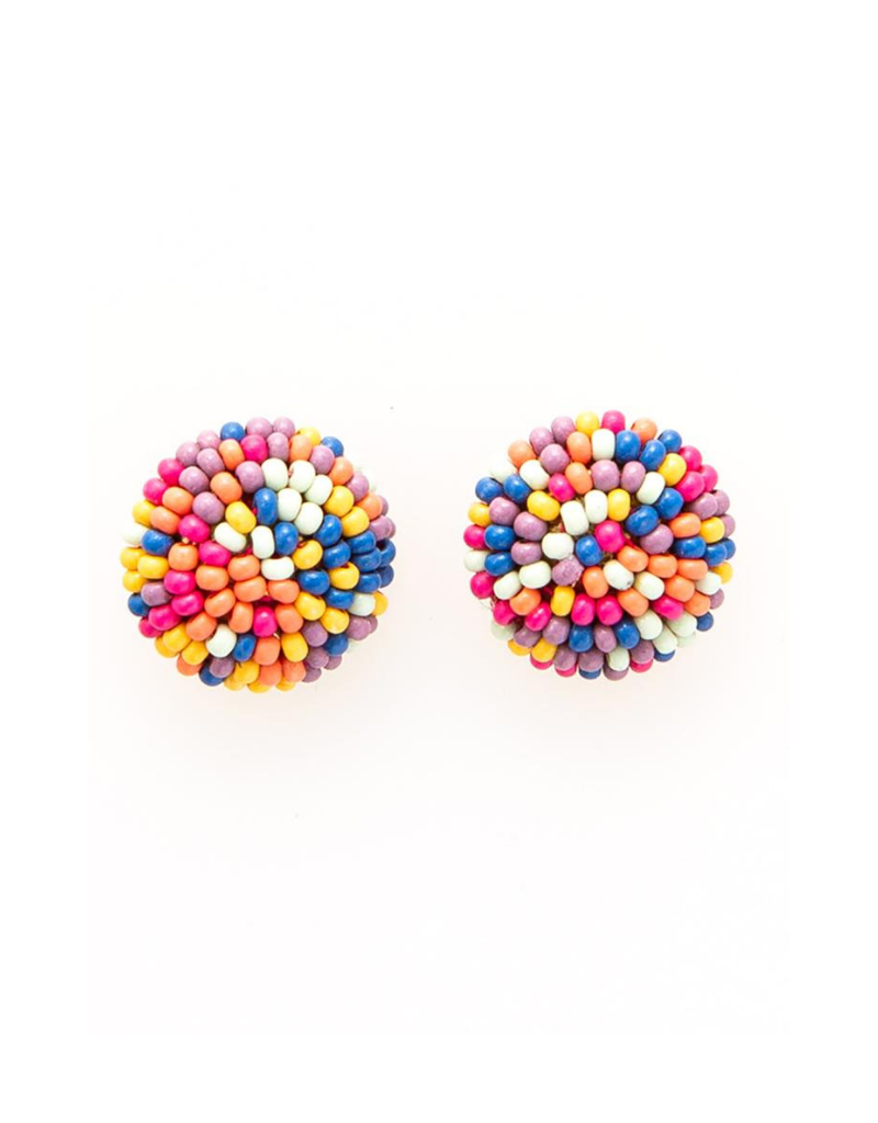 Button Post Earrings