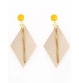Leather Diamond Earrings
